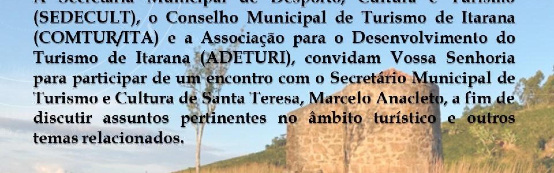 Palestra vai abordar ações voltadas para o desenvolvimento do turismo