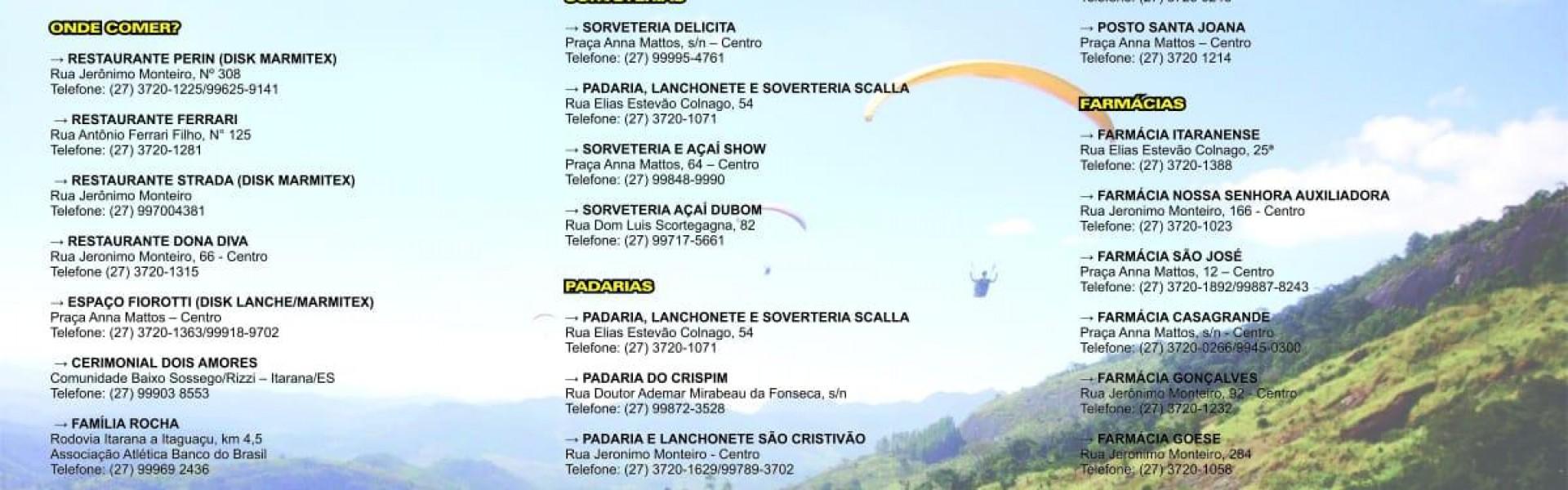 Informações Turísticas de Itarana