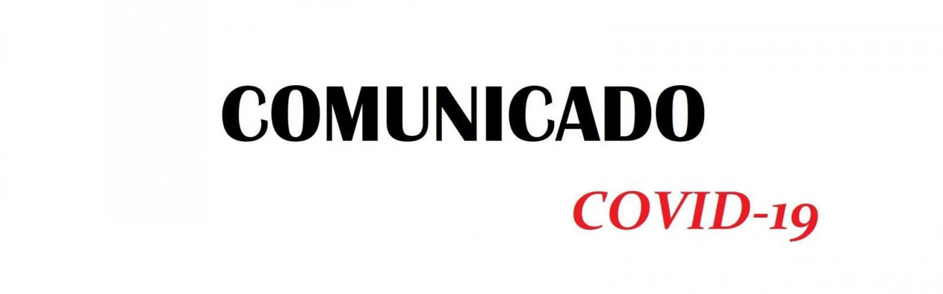 Comunicado - Coronavírus (COVID-19): Informe à população