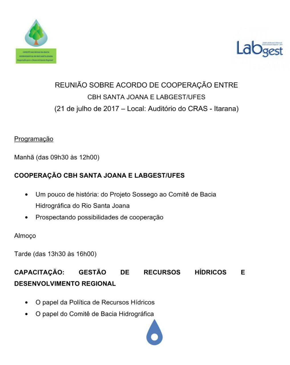 CBH Santa Joana promove reunião extraordinária em Itarana nesta sexta-feira (21)