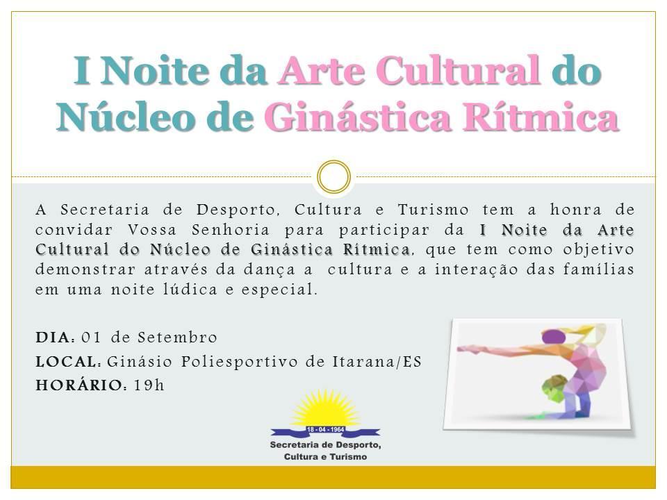 I Noite da Arte Cultural da Ginástica Rítmica será realizada na sexta (01)