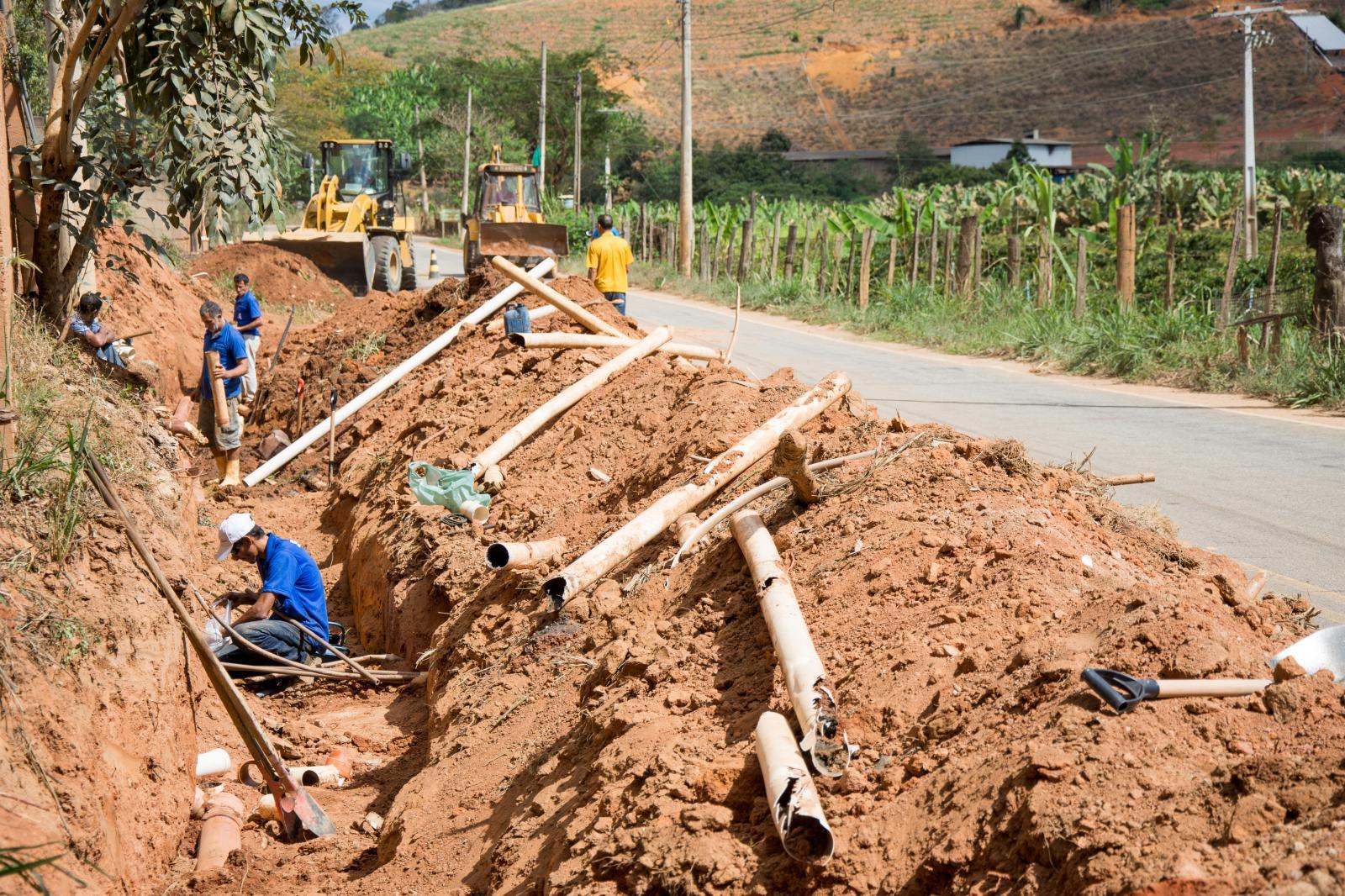 SAAE está refazendo a rede de esgoto na comunidade dos Coan