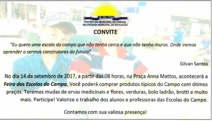 Alunos das Escolas do Campo vão promover Feira na próxima quinta (14)