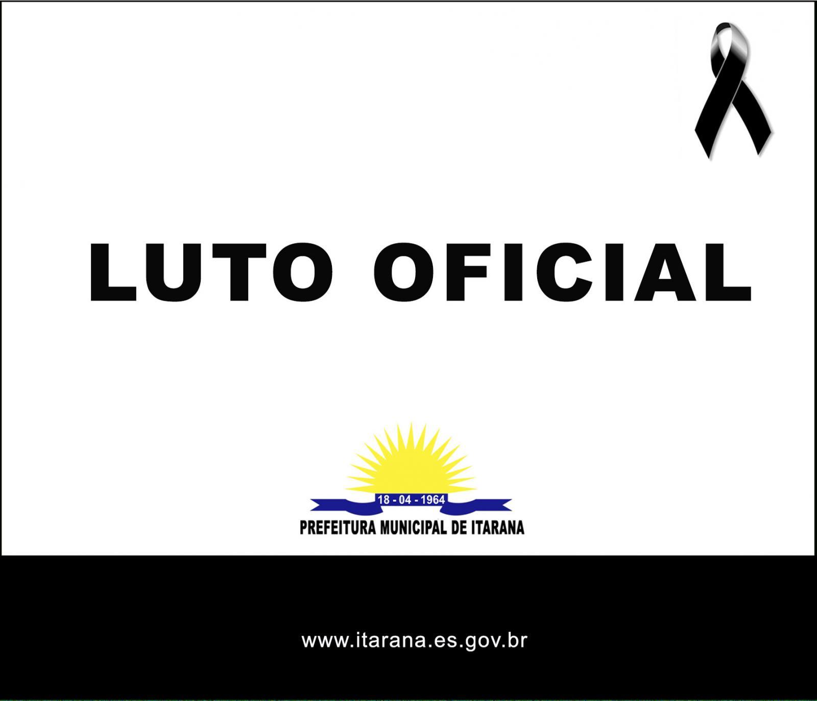 Prefeitura de Itarana decreta 3 dias de luto oficial