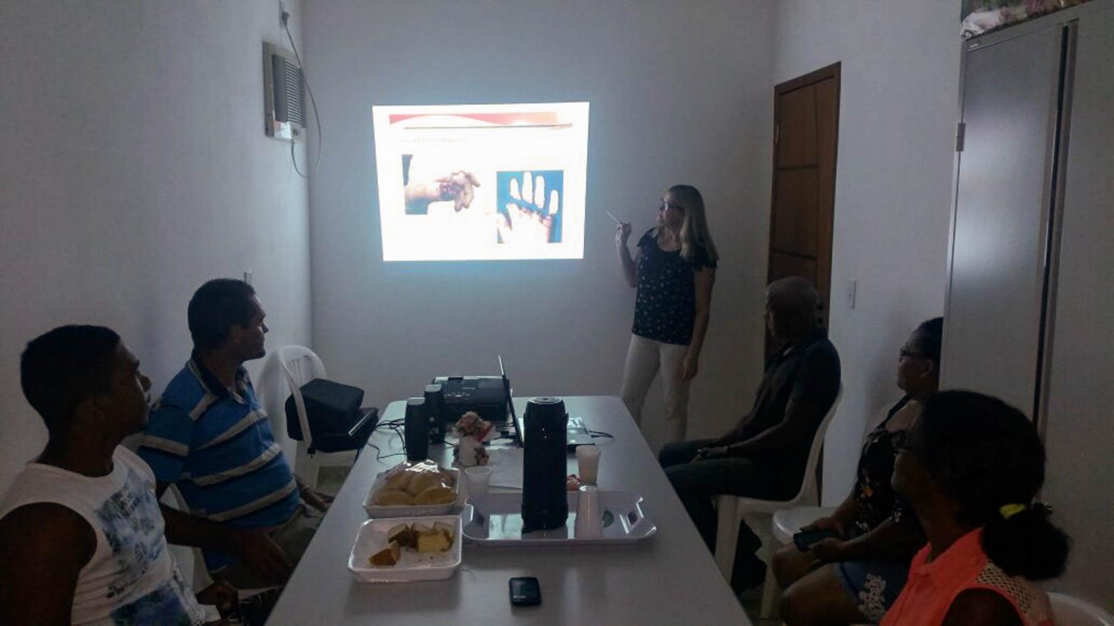 Catadores participaram de capacitação sobre motivação, segurança e saúde no trabalho