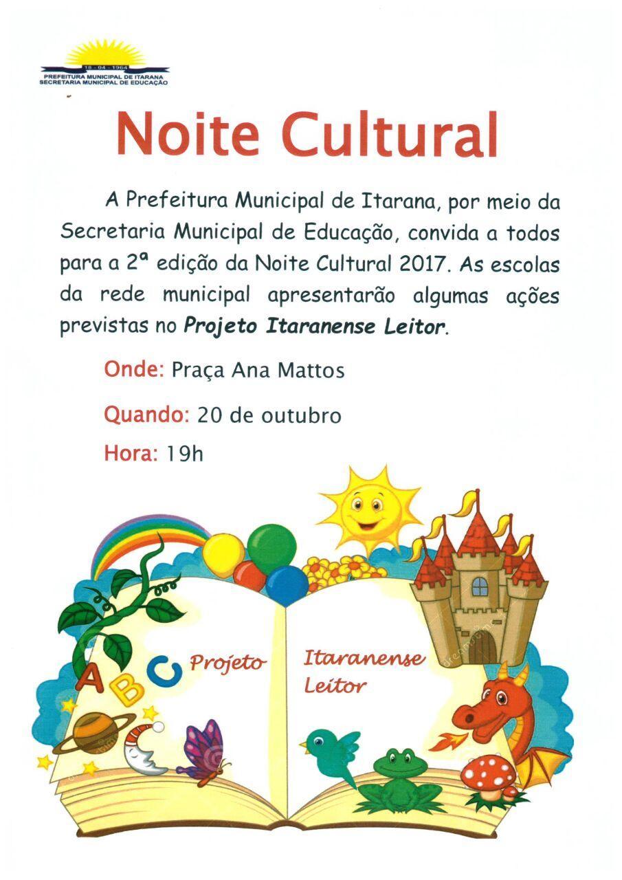 Educação realiza Noite cultural nesta sexta-feira (20)