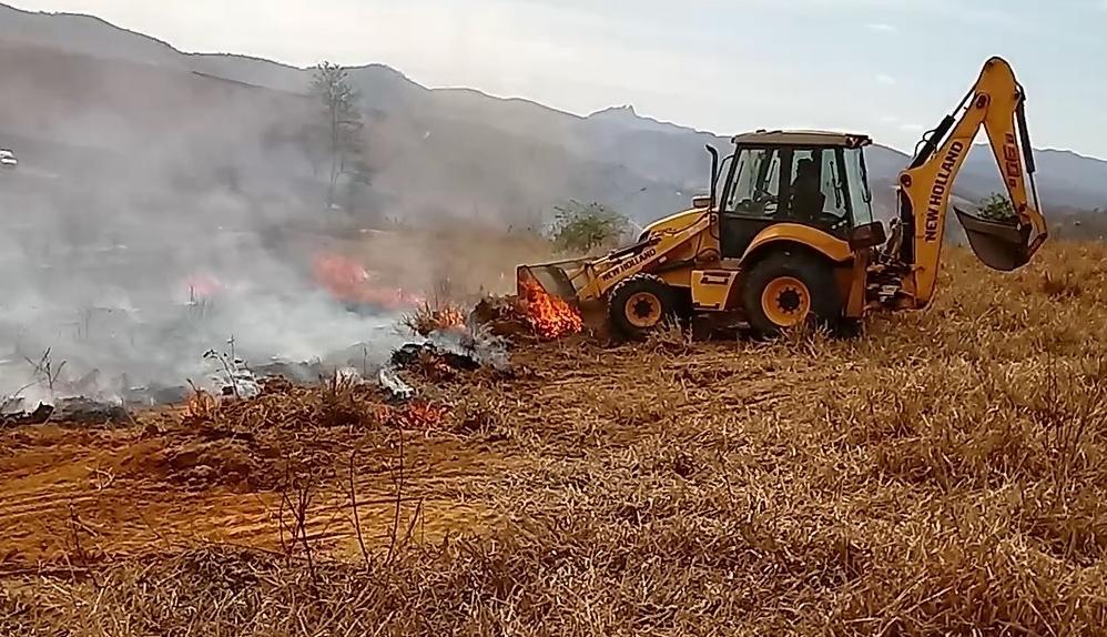 Estiagem prolongada e altas temperaturas aumentam focos de incêndios em Itarana