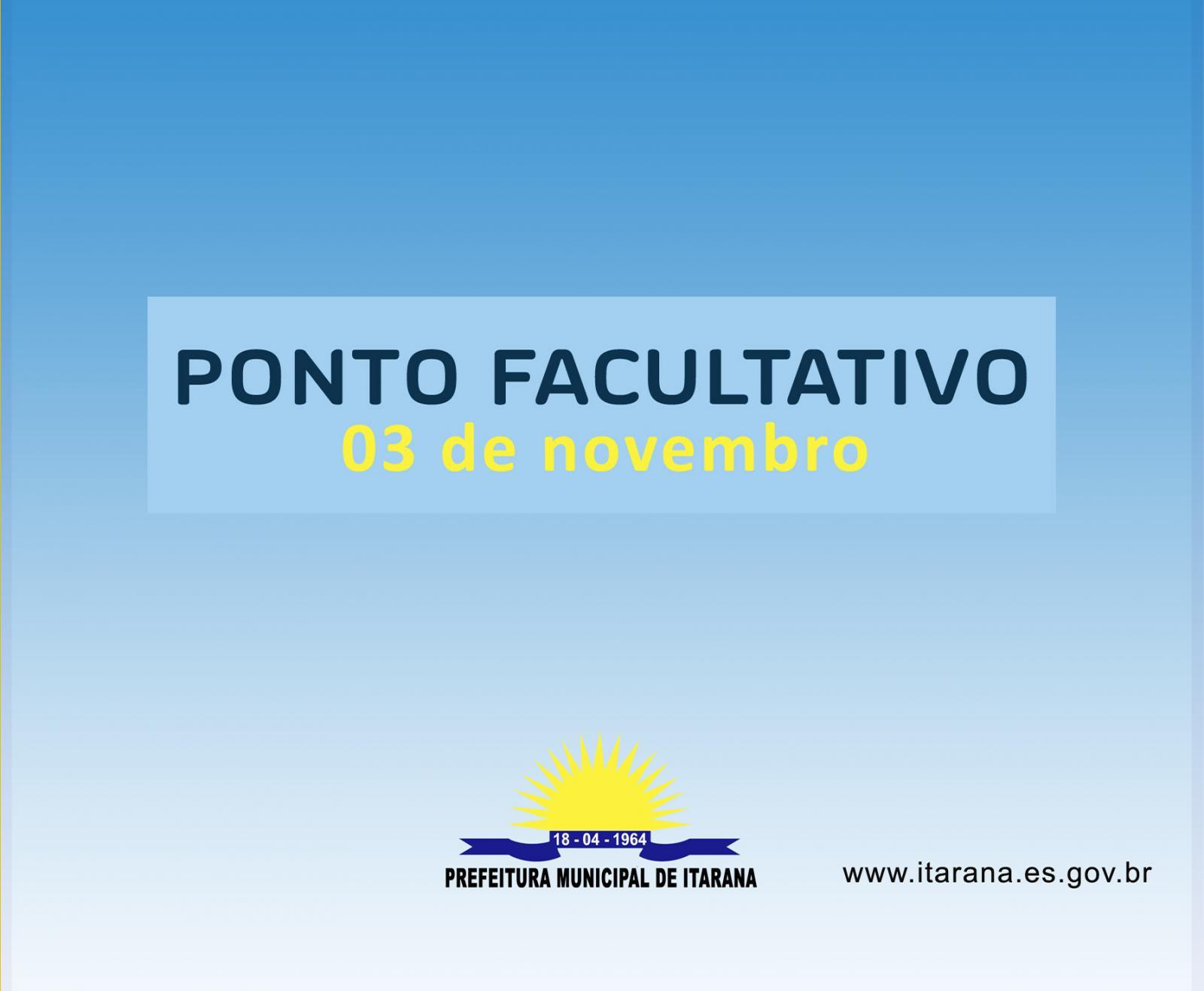 Prefeitura de Itarana decreta ponto facultativo nesta sexta (03)