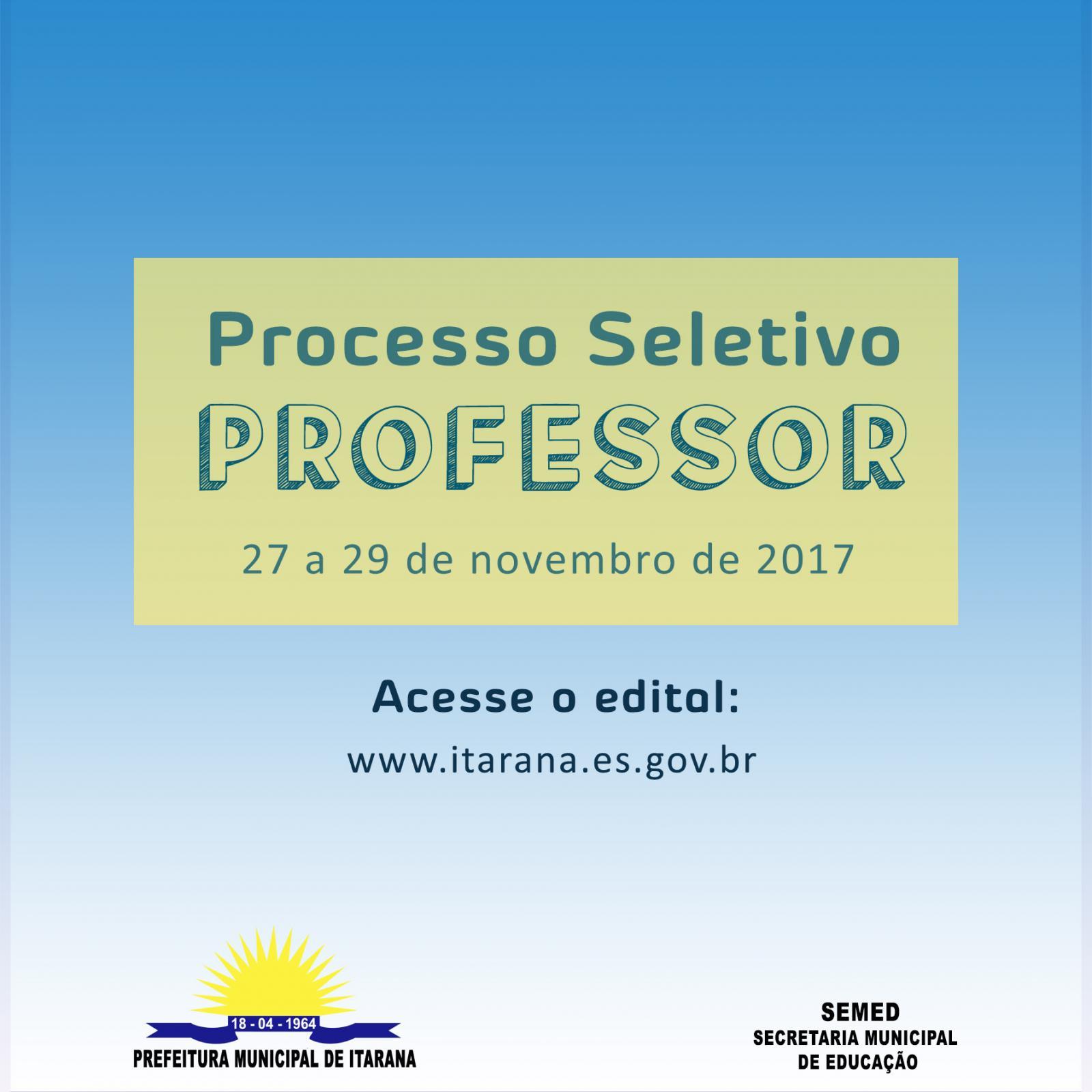 Processo Seletivo Simplificado para contratação de Professores por tempo determinado
