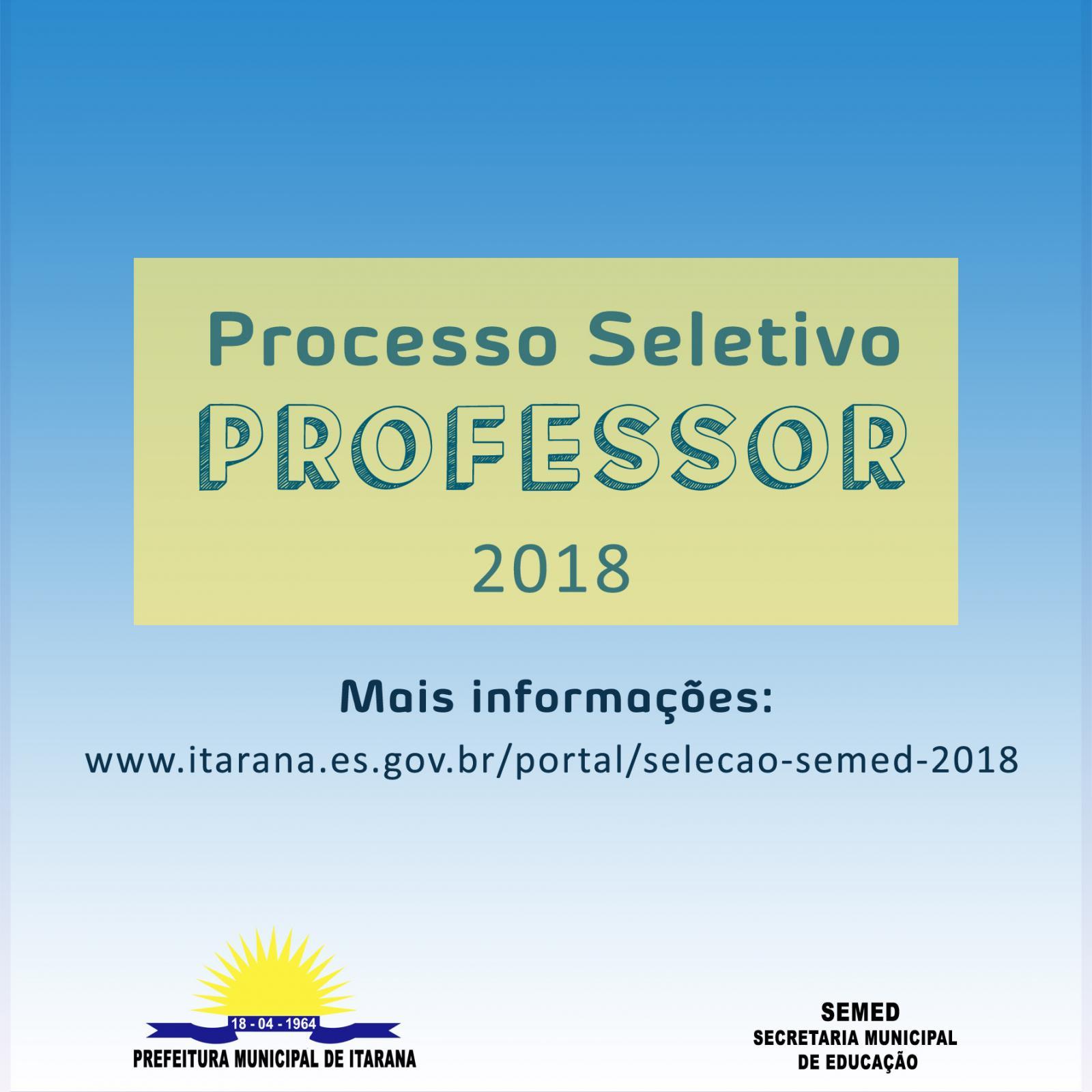 Educação divulgou a classificação dos candidatos do processo seletivo para Professor DT