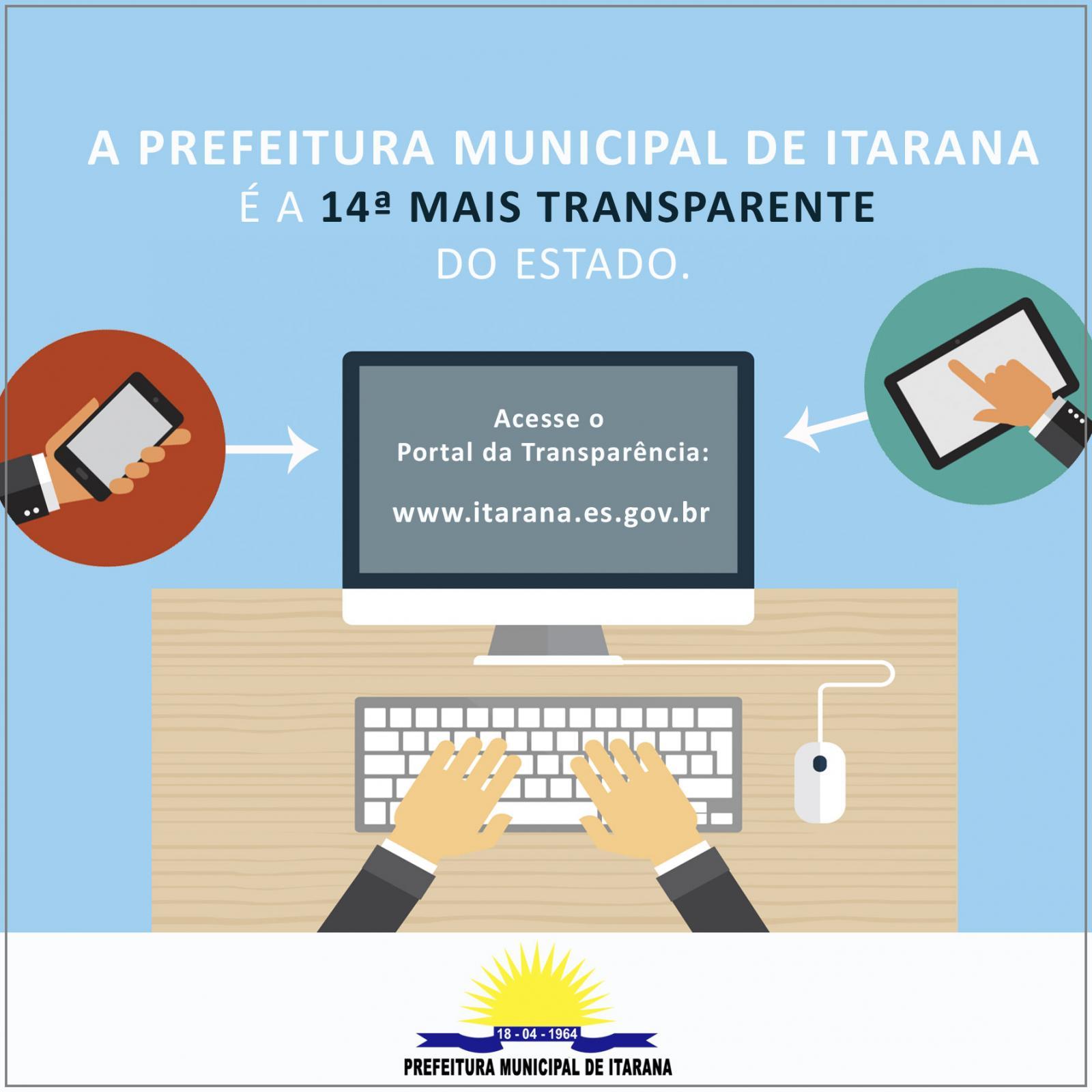 Prefeitura de Itarana é a 14ª mais transparente do Estado