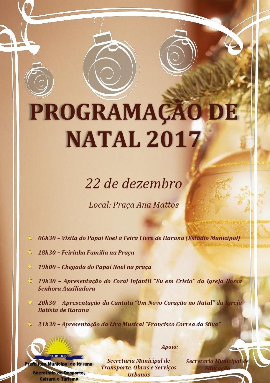 Sedecult realiza programação especial de Natal, no dia 22 de dezembro