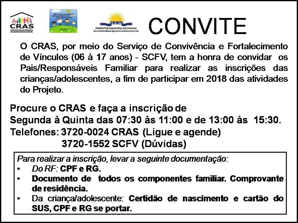 Abertas inscrições para o Serviço de Convivência e Fortalecimento de Vínculos para crianças, adolescentes e jovens