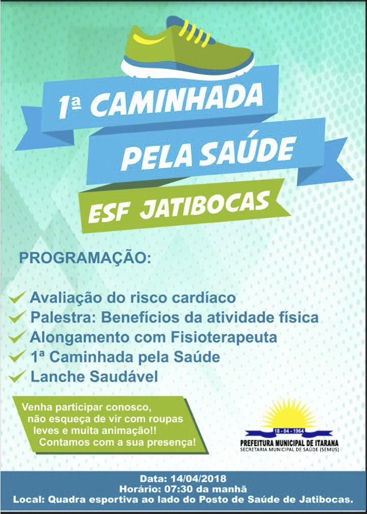 Convite: 1ª Caminhada pela Saúde, dia 14 de abril