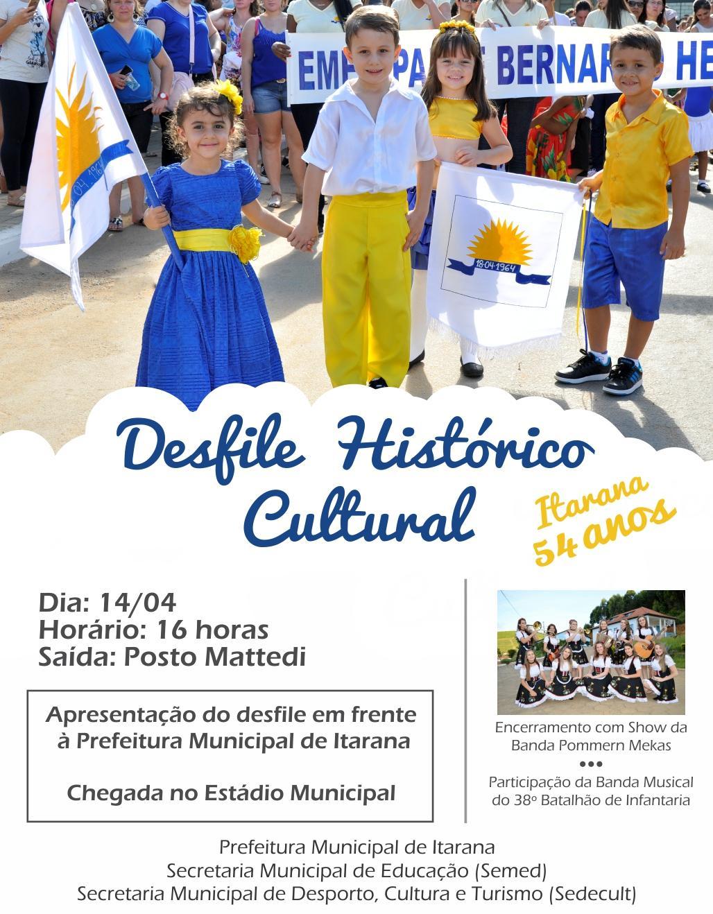 Desfile Histórico Cultural vai celebrar 54 anos de Emancipação Política de Itarana