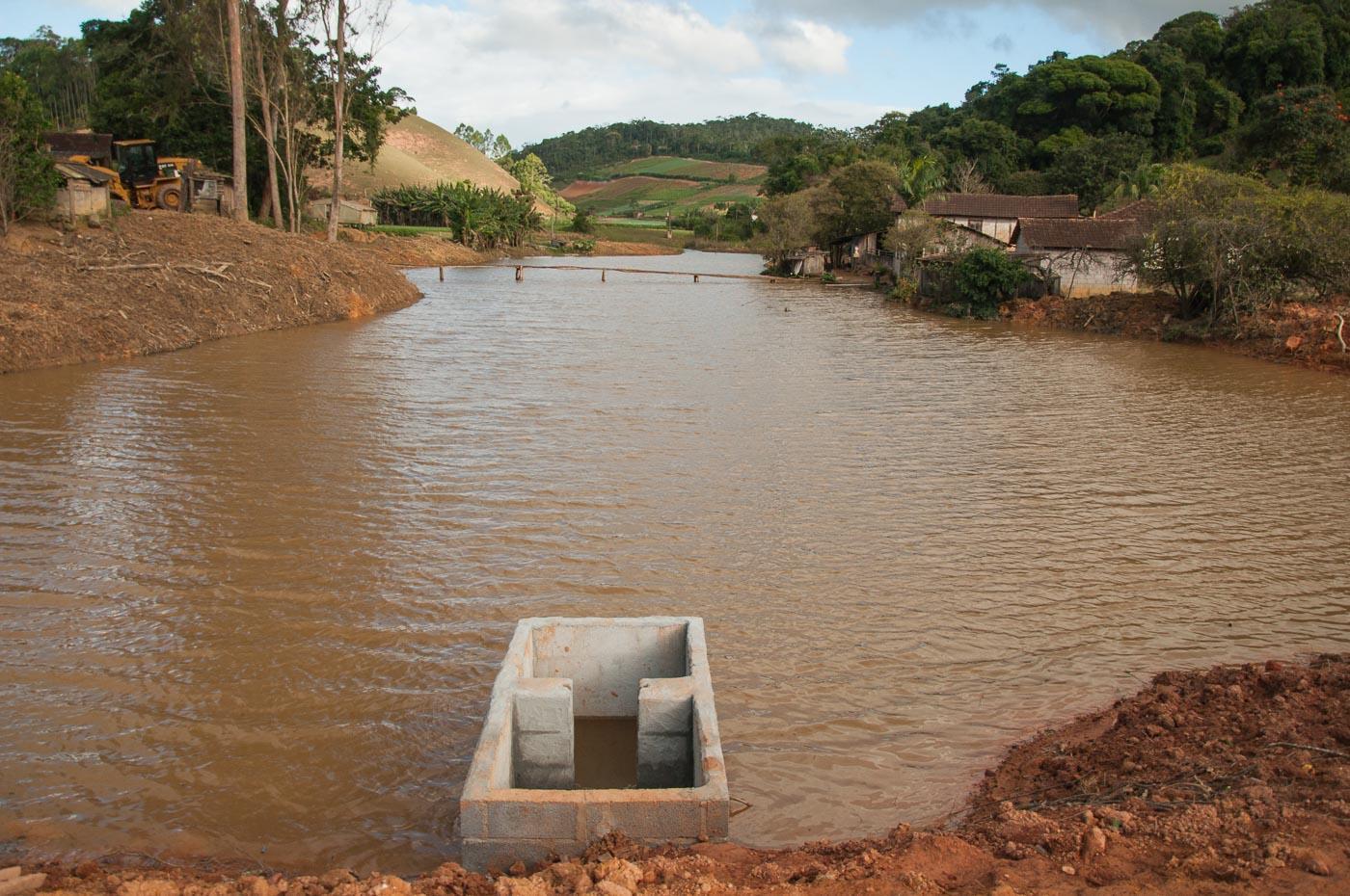 Mais uma barragem construída em Itarana com o apoio da Semama
