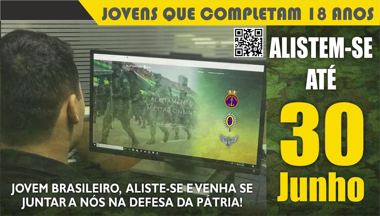 Prazo para o alistamento militar vai até dia 30 de junho