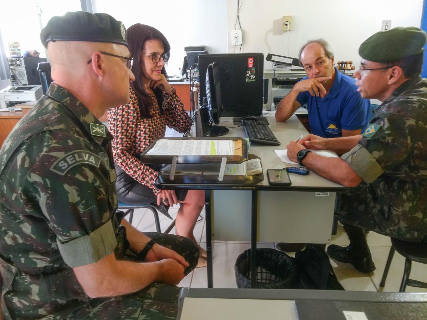 Junta do Serviço Militar de Itarana recebeu visita técnica de orientação