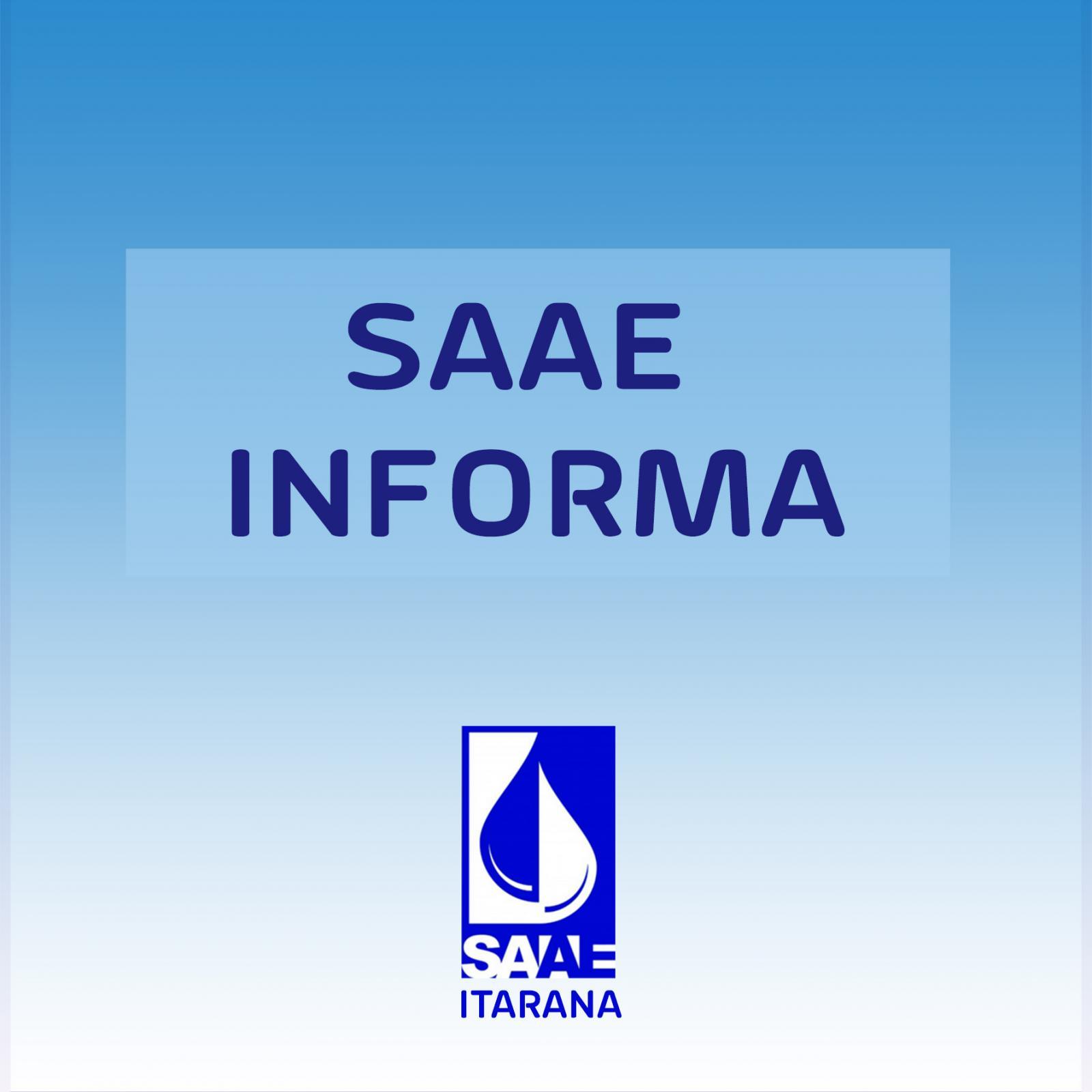 SAAE: Abastecimento de água suspenso nesta quinta-feira, dia 03 de janeiro