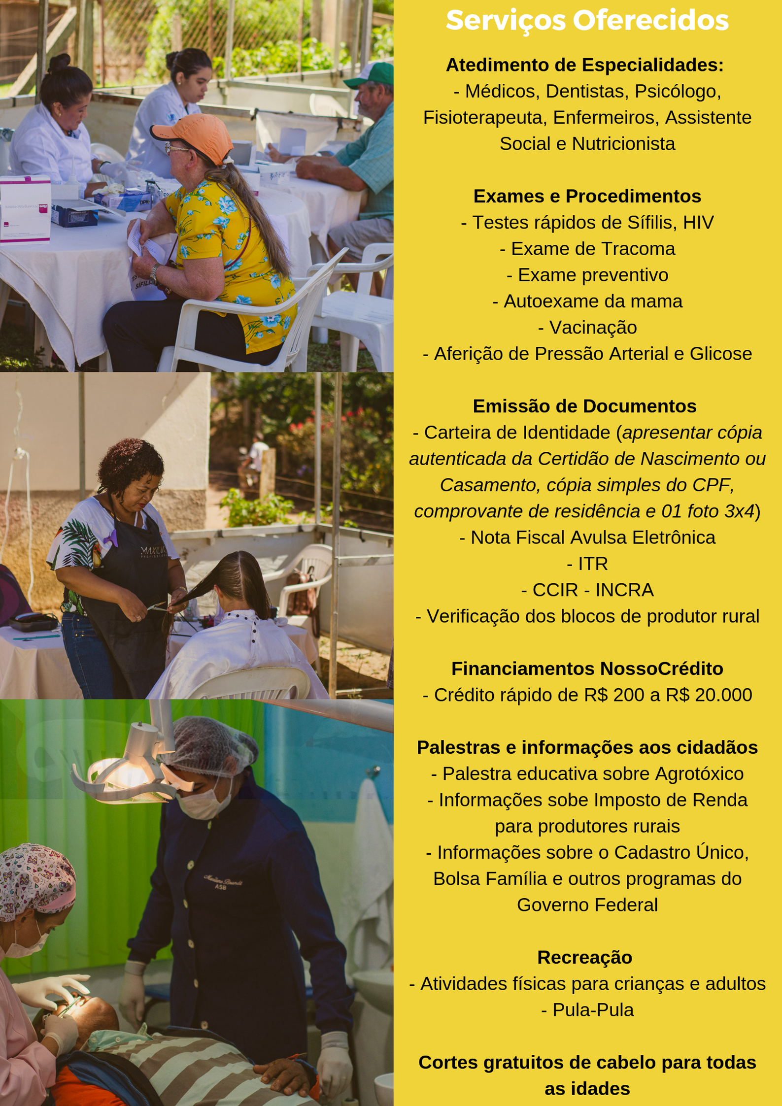 """Alto Jatibocas receberá """"Mutirão da Cidadania"""", no próximo sábado (01)"""