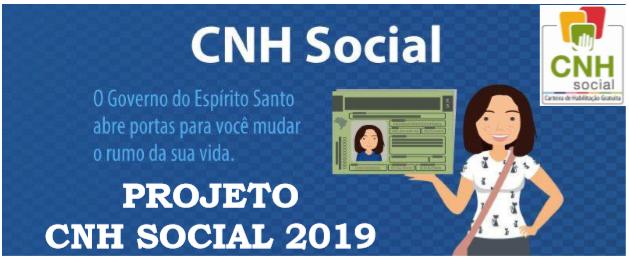 Inscrições para o CNH Social vão até dia 15 de maio