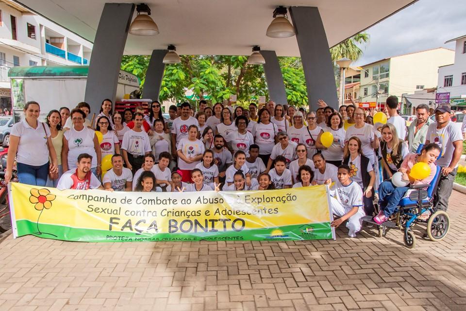 Caminhada mobilizou Itarana para o combate ao abuso e à exploração sexual de crianças e adolescentes