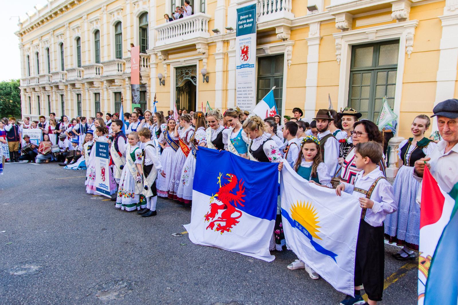 Itarana presente nas comemorações dos 160 anos da Imigração Pomerana no Espírito Santo