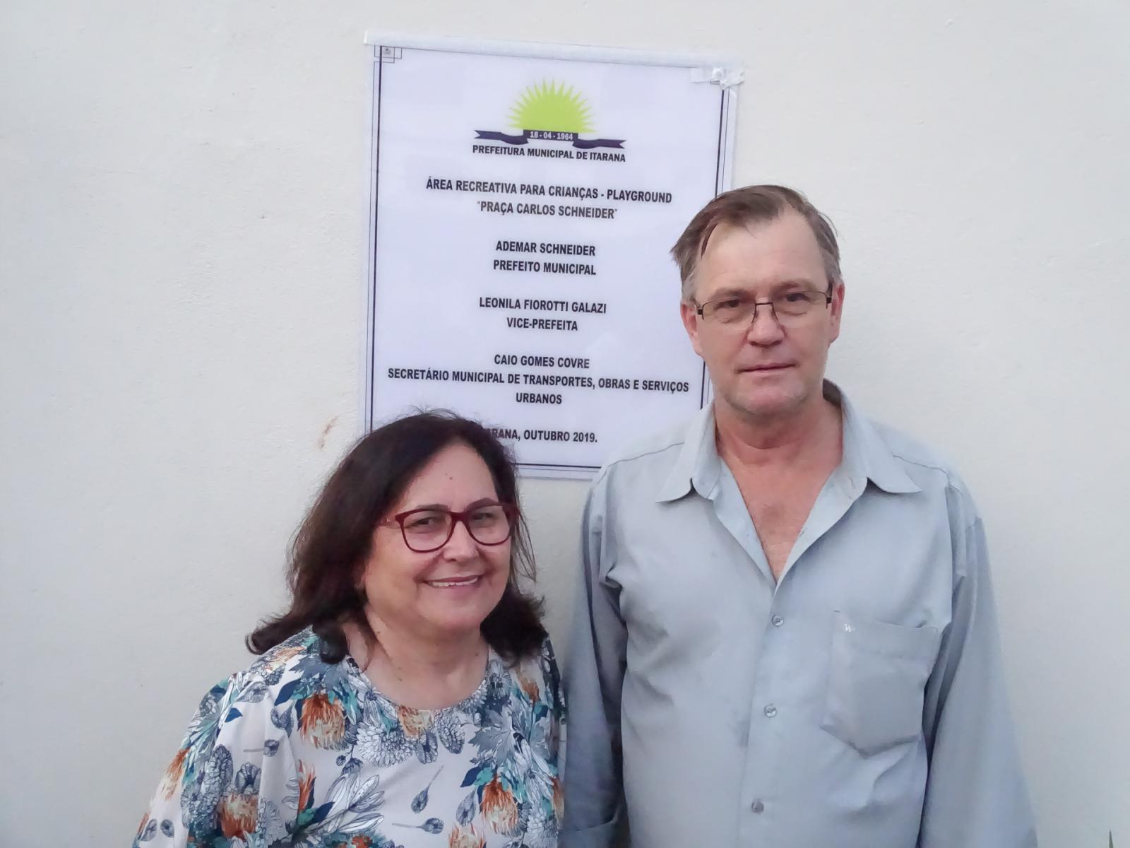 Prefeitura de Itarana inaugurou obras do Passeio Público e Playground