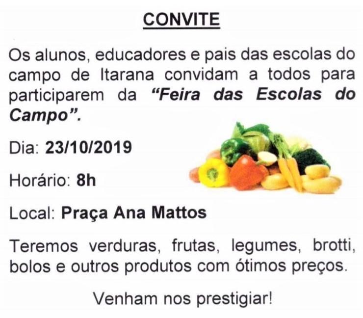 Escolas do interior do município promovem a 6ª edição da Feira das Escolas do Campo