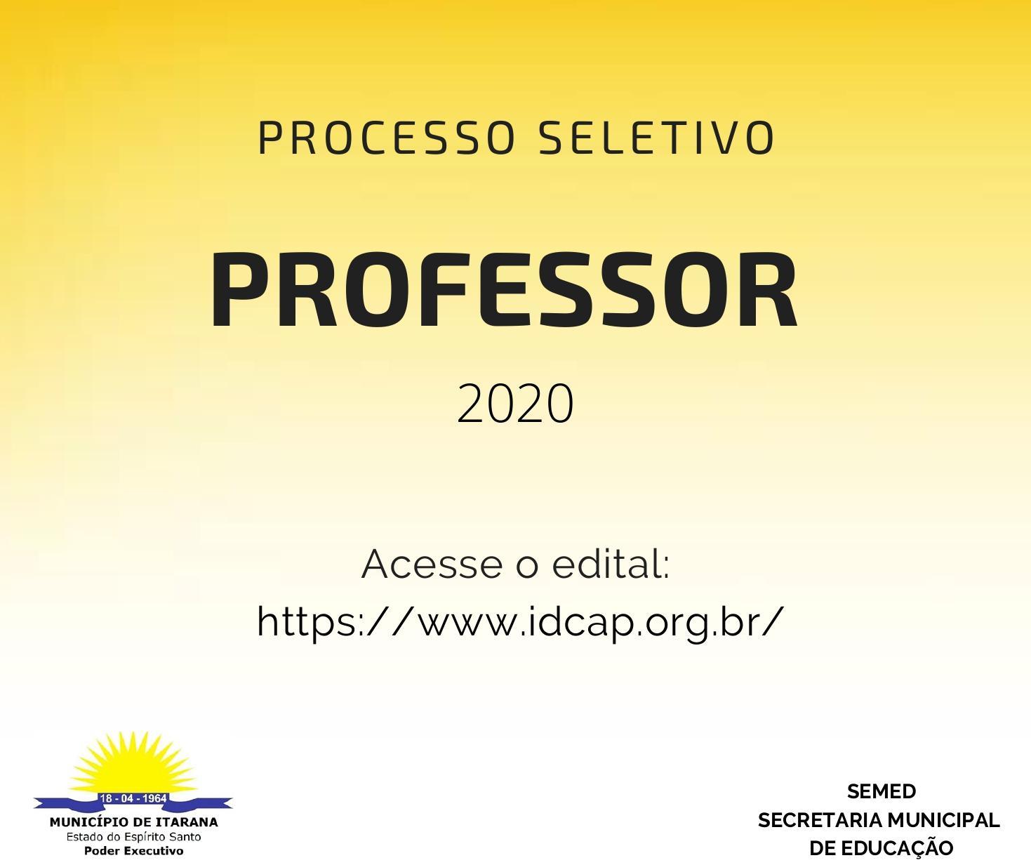Secretaria Municipal de Educação abre processo seletivo simplificado para contratação de professores em designação temporária