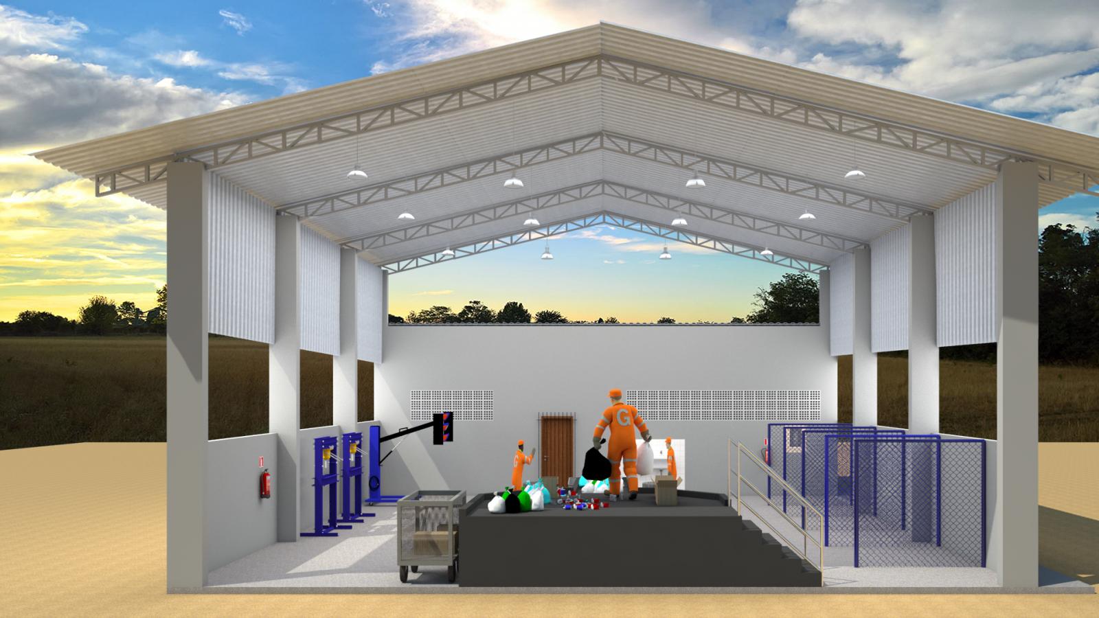 Assinatura de Ordem de Serviço autoriza a construção de um galpão para triagem de materiais recicláveis em Itarana