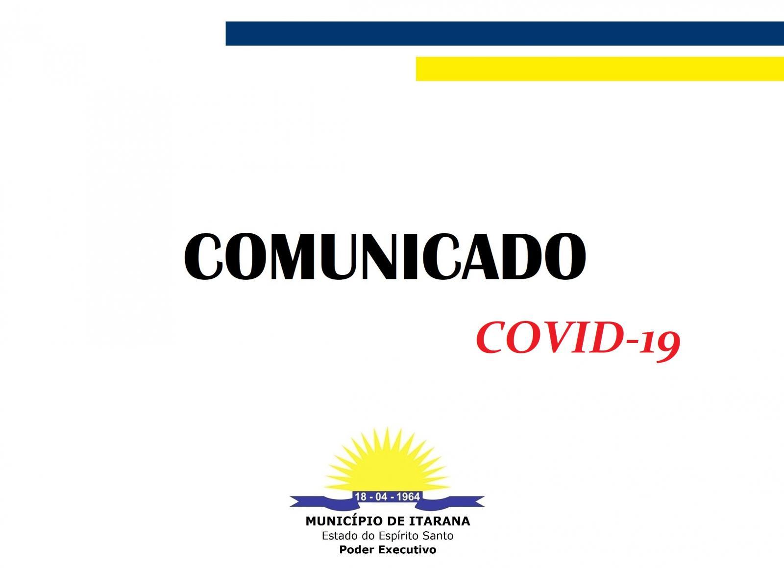Coronavírus (COVID-19): Novo comunicado