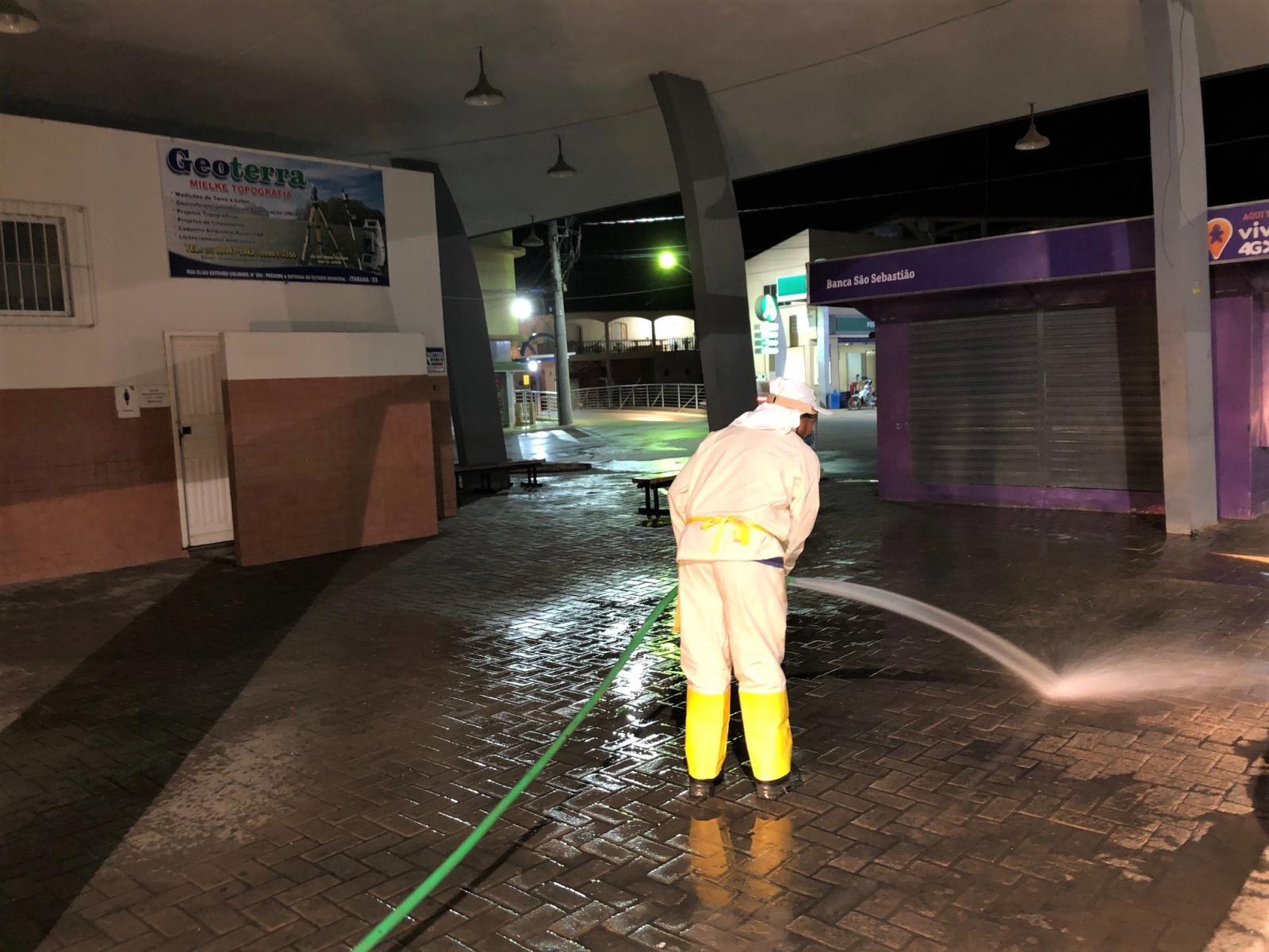 Coronavírus (COVID-19): Prefeitura realiza a limpeza das ruas no combate ao vírus