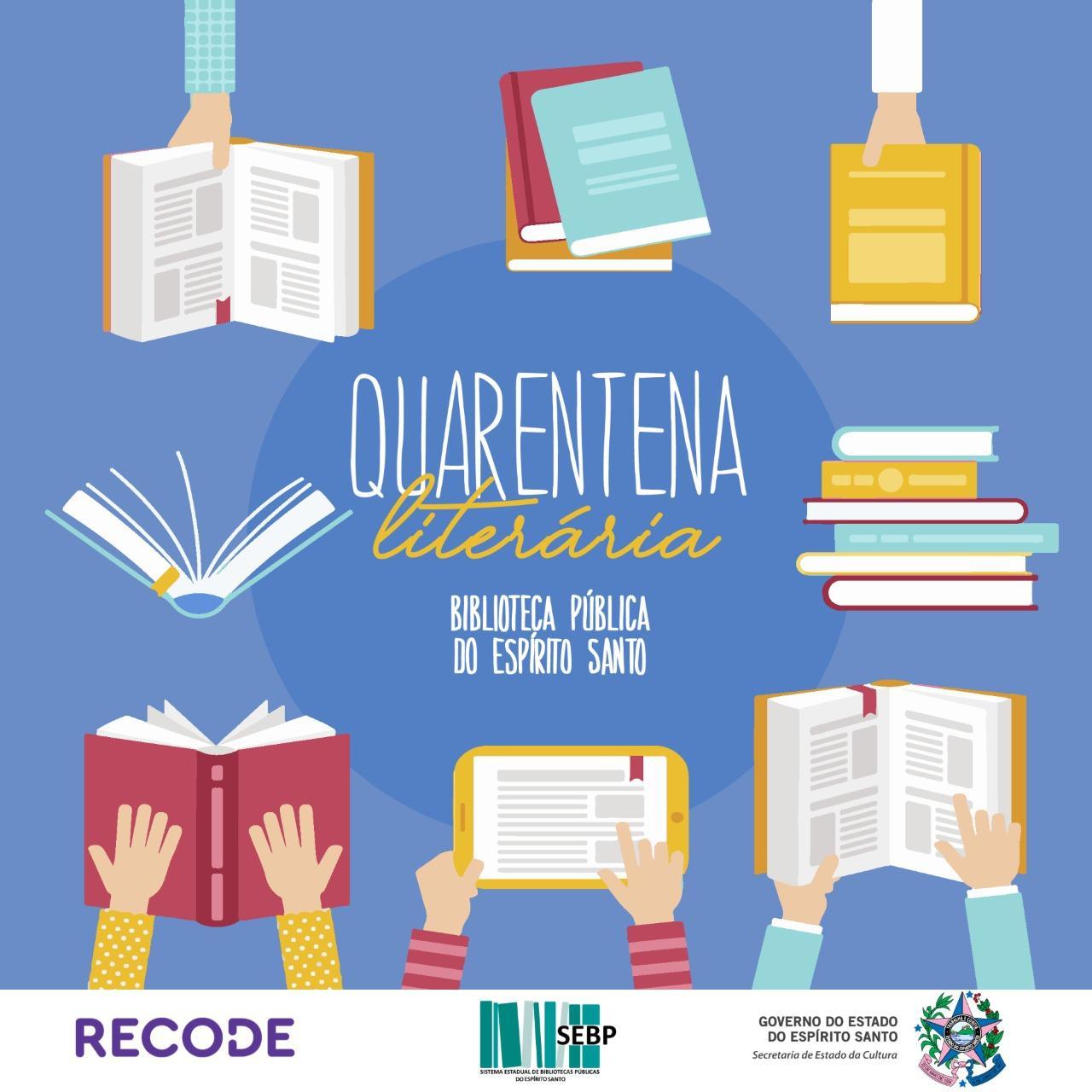 """Biblioteca Municipal de Itarana adere a Campanha """"Quarentena Literária"""" e aguarda pelos seus vídeos de incentivo à leitura"""