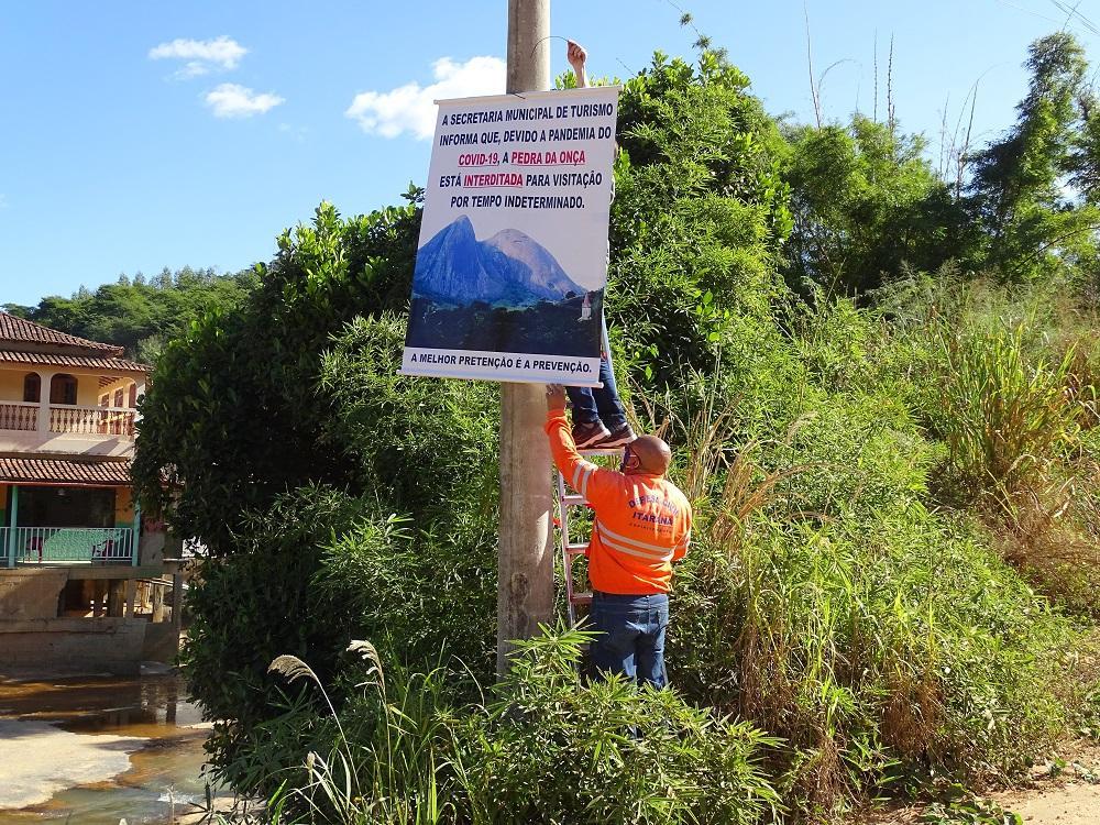 Coronavírus (COVID-19): Pontos turísticos de Itarana são interditados devido a frequentação em meio à pandemia
