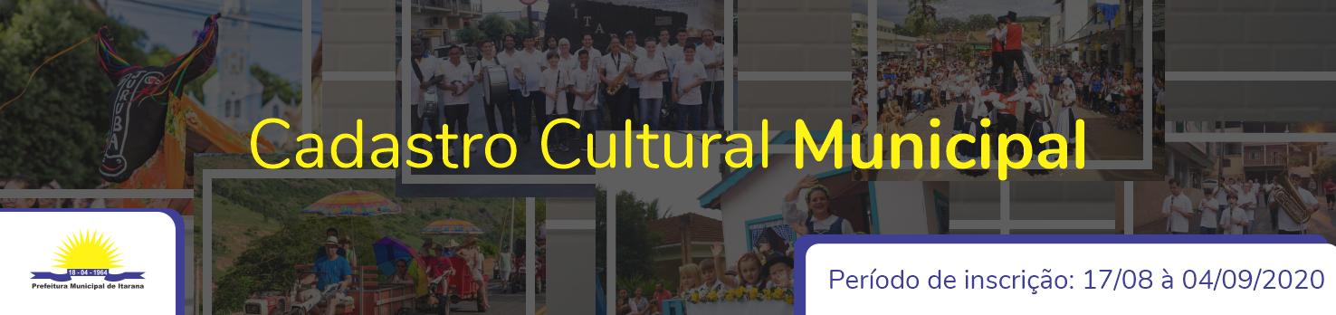 Cadastro Cultural Municipal