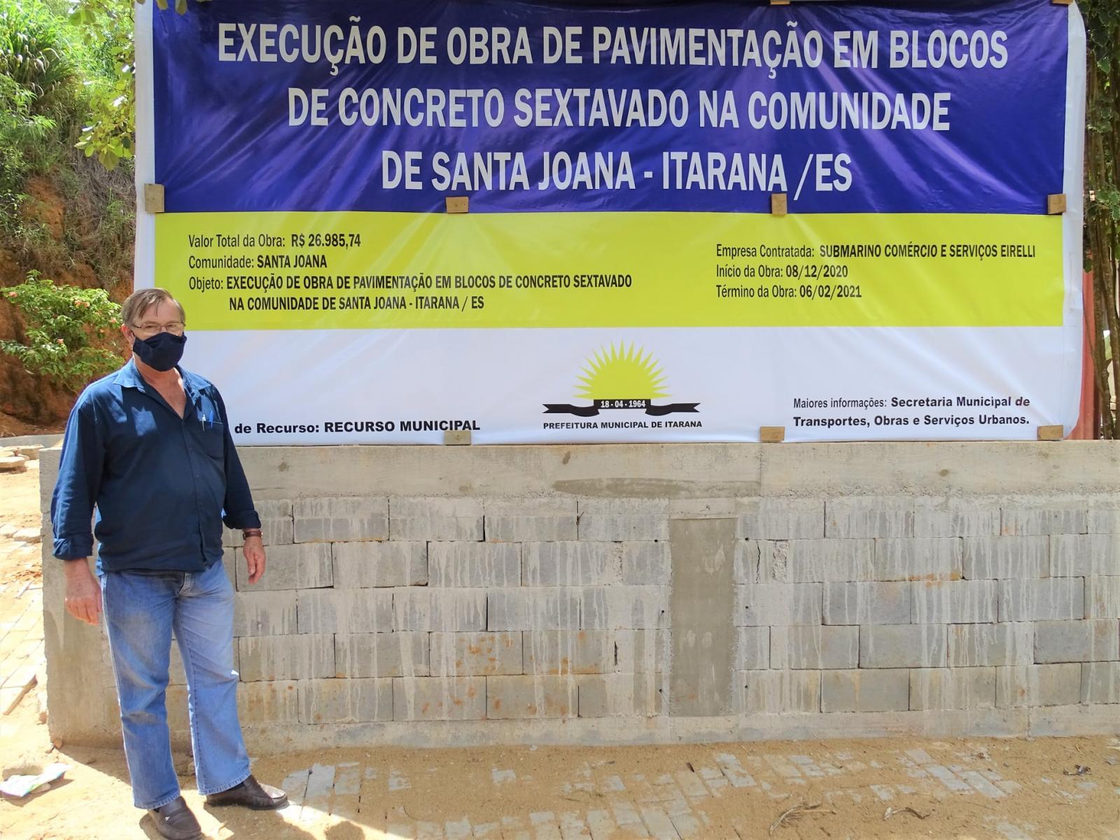 Prefeito de Itarana inaugura várias obras neste final de ano