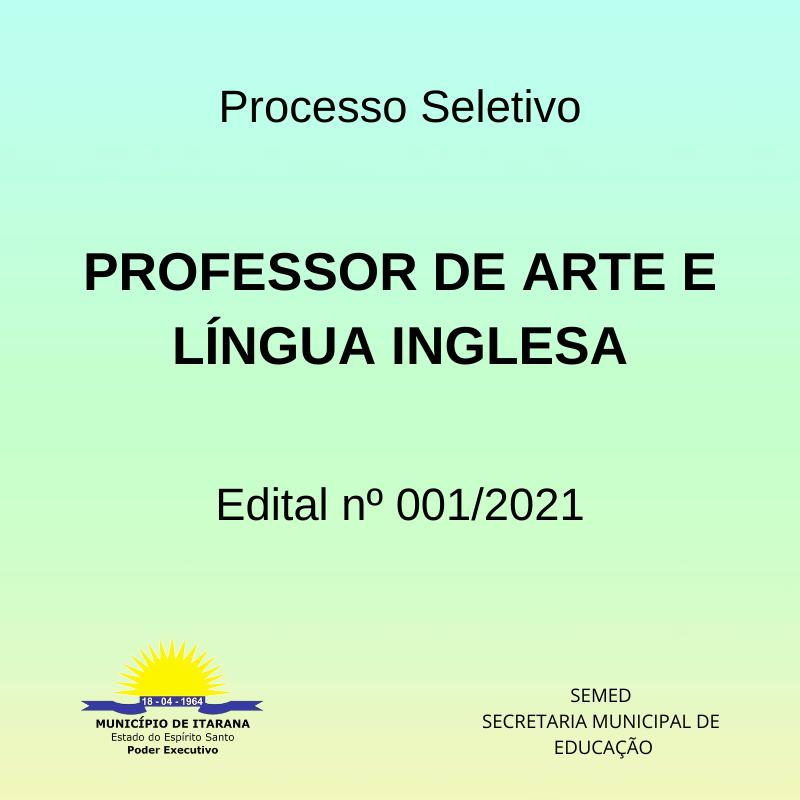Secretaria Municipal de Educação abre processo seletivo para professores de arte e língua inglesa