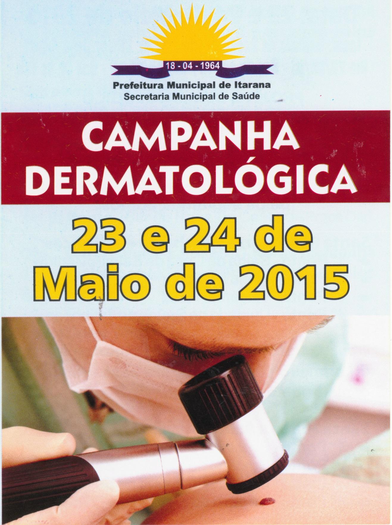 Campanha dermatológica vai avaliar sinais de câncer de pele nos dias 23 e 24 de maio