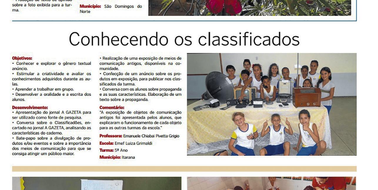 """Escola Luiza Grimaldi participa do programa """"A gazeta na Sala de Aula"""""""