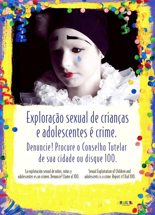 Dia nacional de combate à exploração sexual de crianças e adolescentes