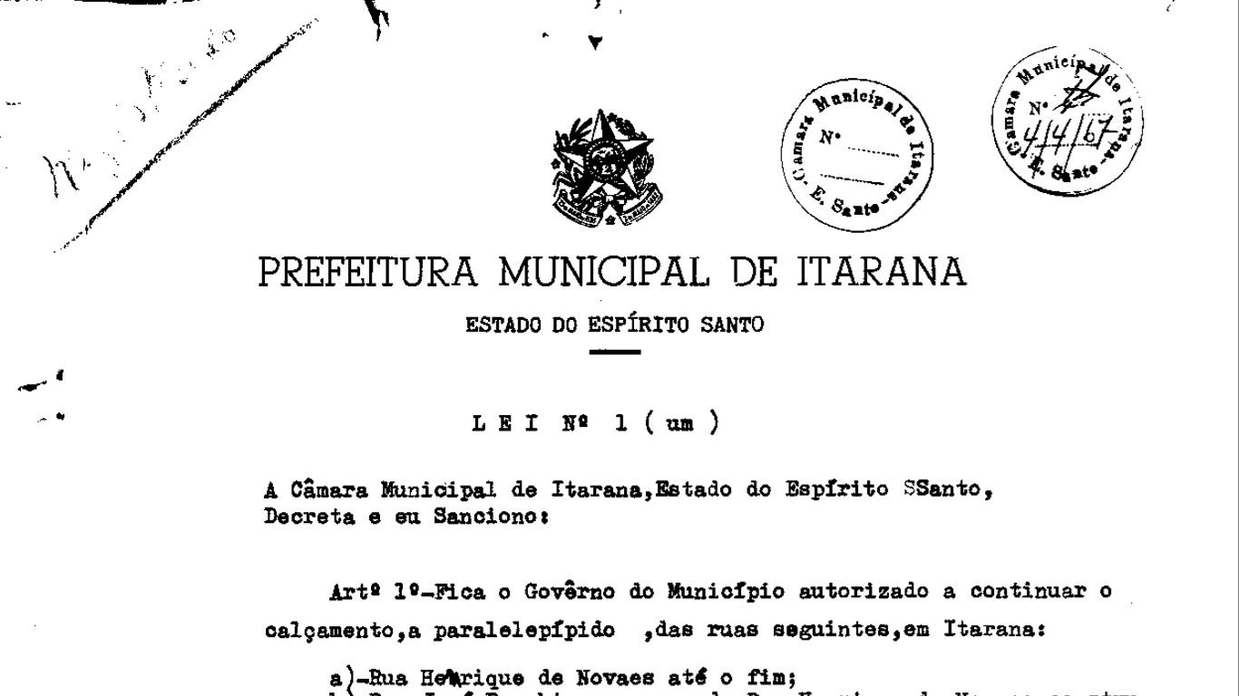 Prefeitura Municipal de Itarana disponibiliza leis em formato digital