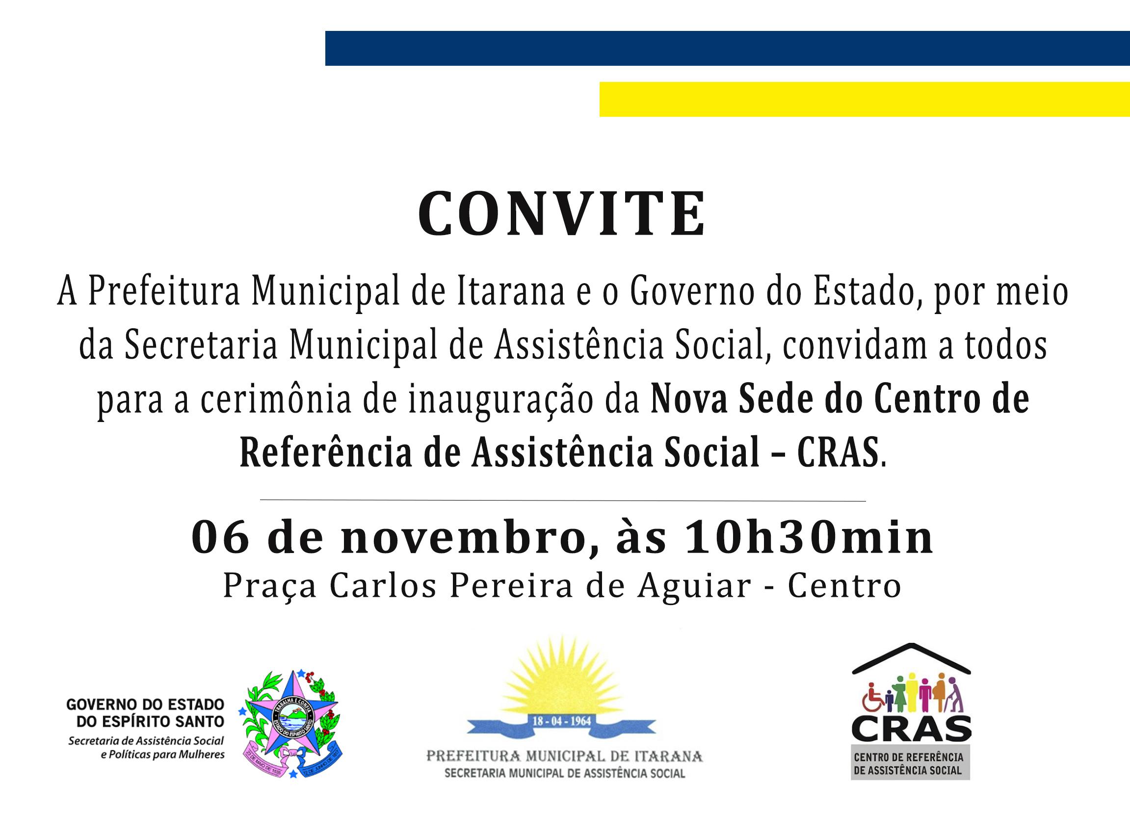 Nova Sede do CRAS será inaugurada na sexta-feira (06)