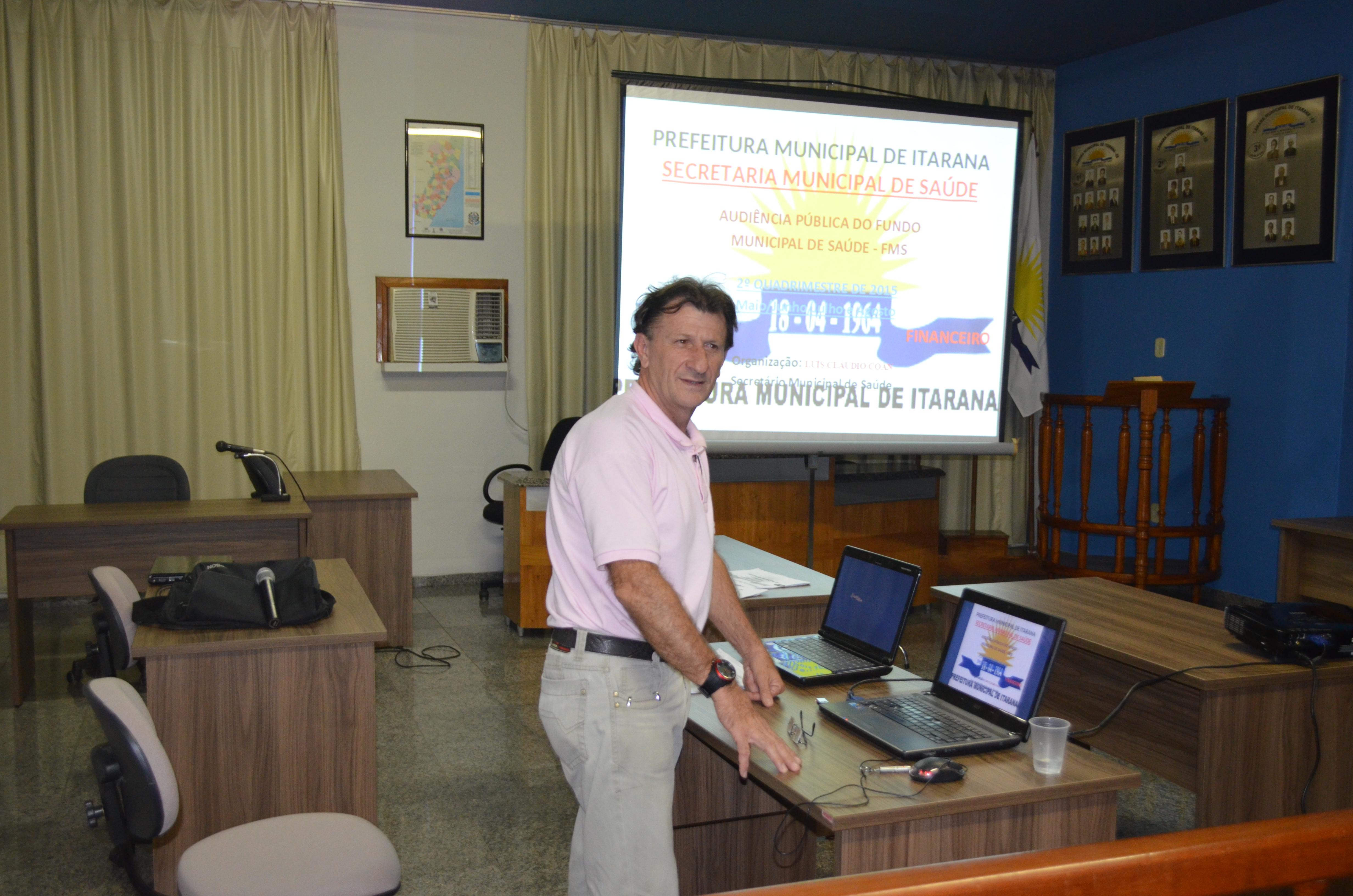 Secretaria de Saúde promoveu audiência pública para apresentar prestação de contas