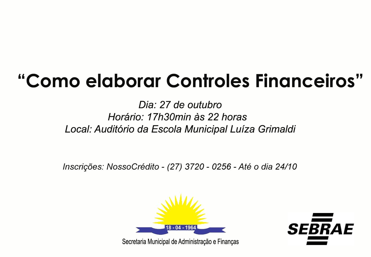 Curso vai discutir controle financeiro na próxima segunda-feira (27)