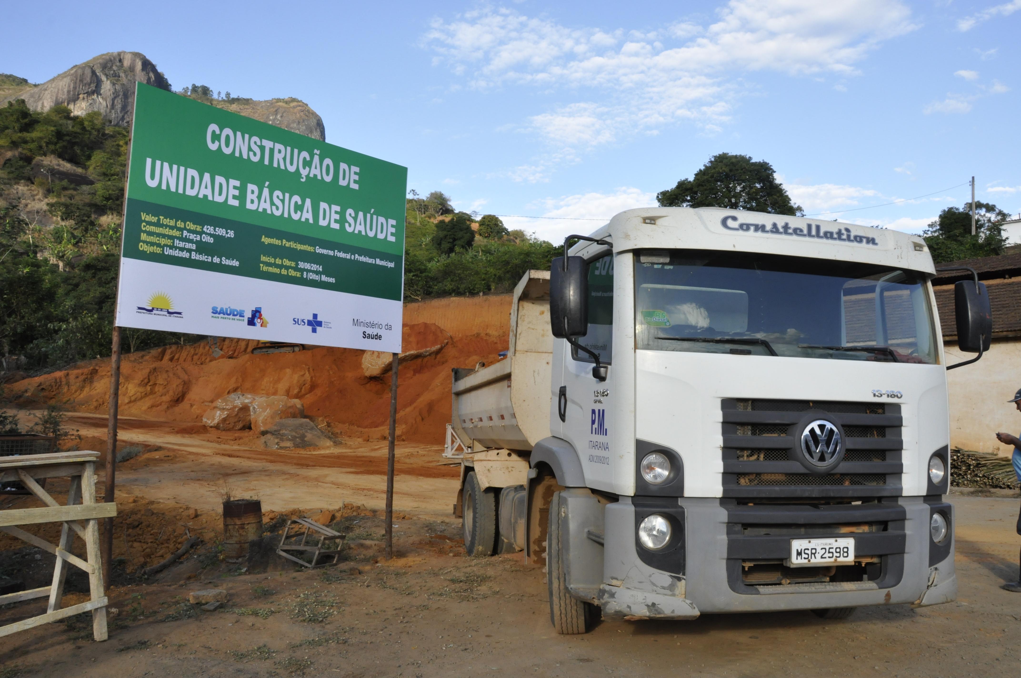 Unidade Básica de Saúde de Praça Oito começa a ser construída