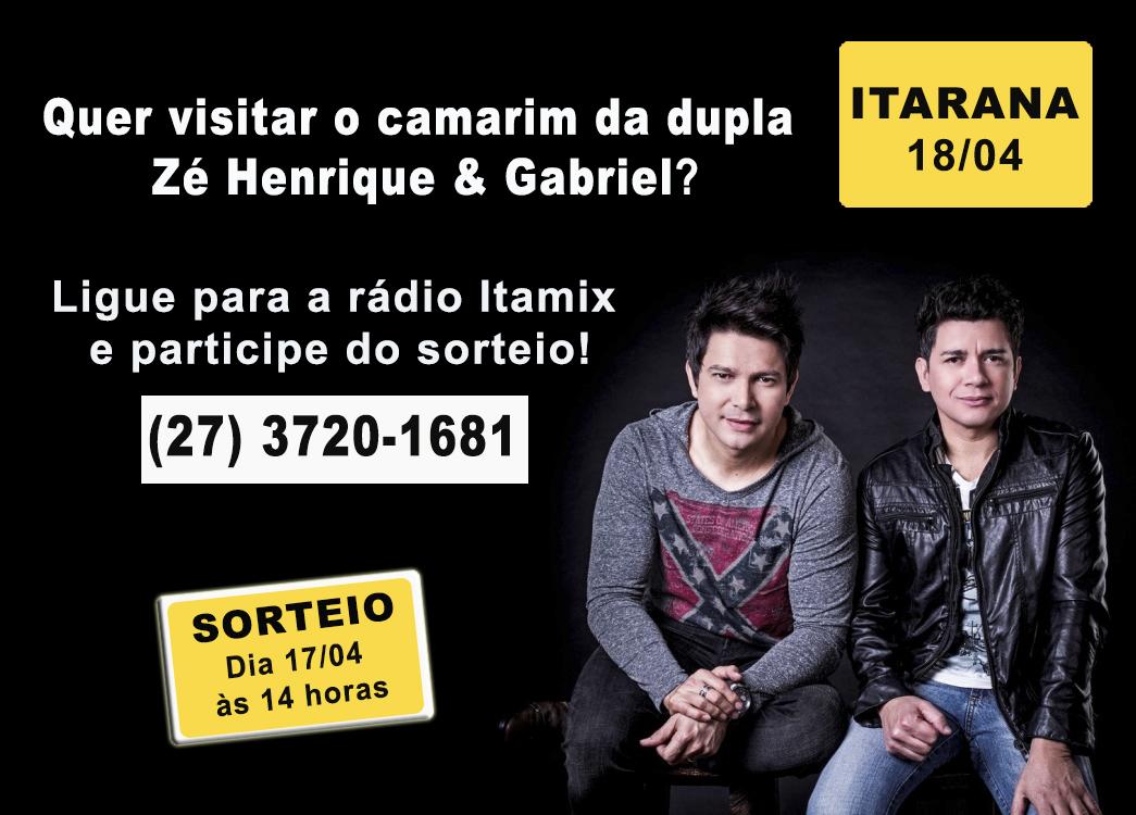 Promoção: Duas pessoas serão sorteadas para visitar o camarim da dupla Zé Henrique e Gabriel