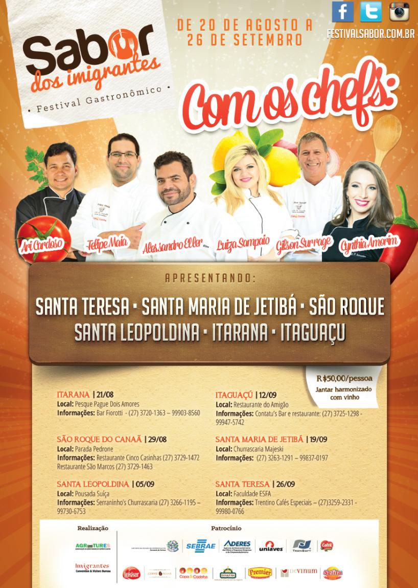 Itarana recebe o Festival Gastronômico Sabor dos Imigrantes