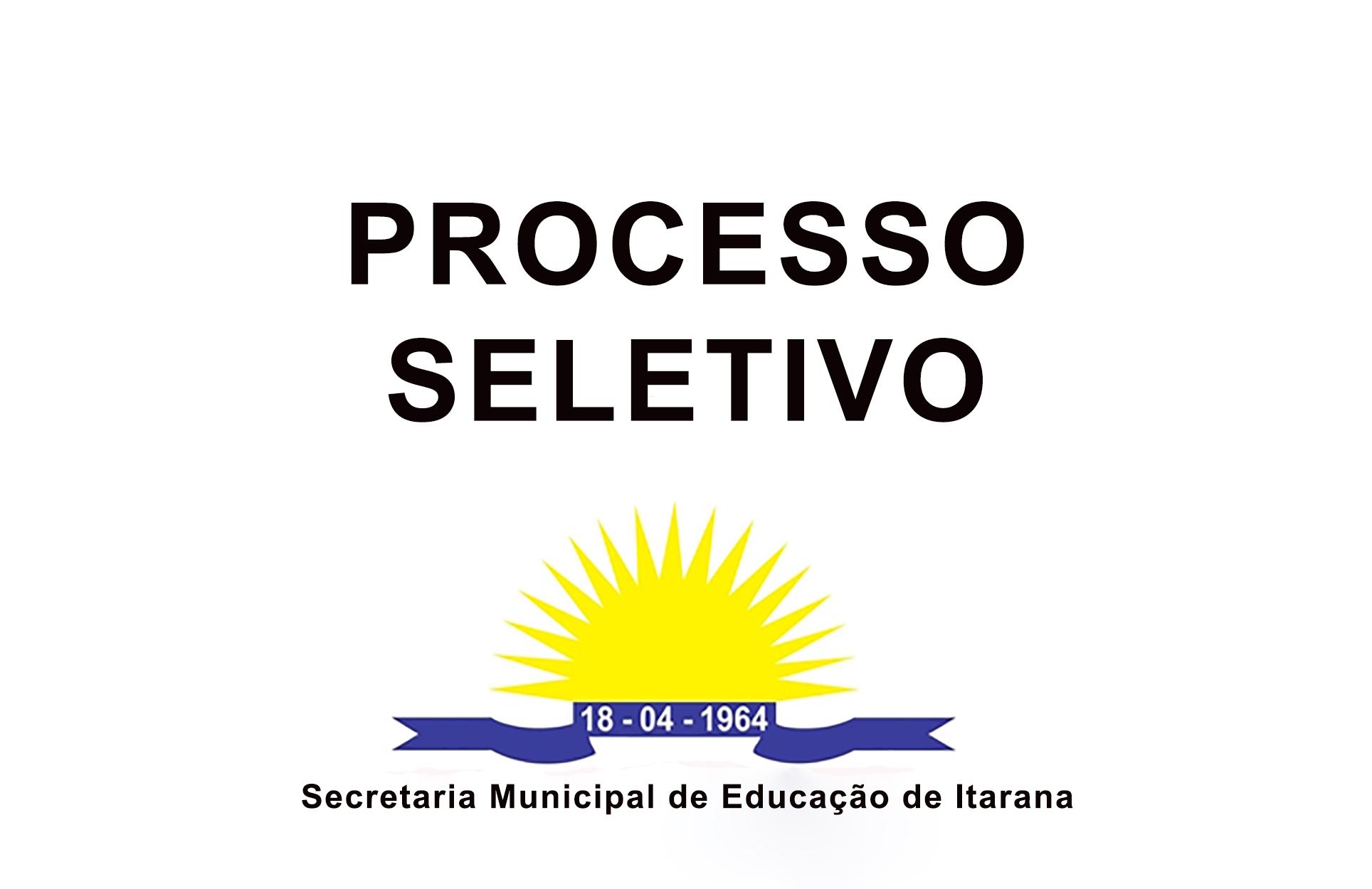 Quadro de Vagas do Processo Seletivo Simplificado de Professores
