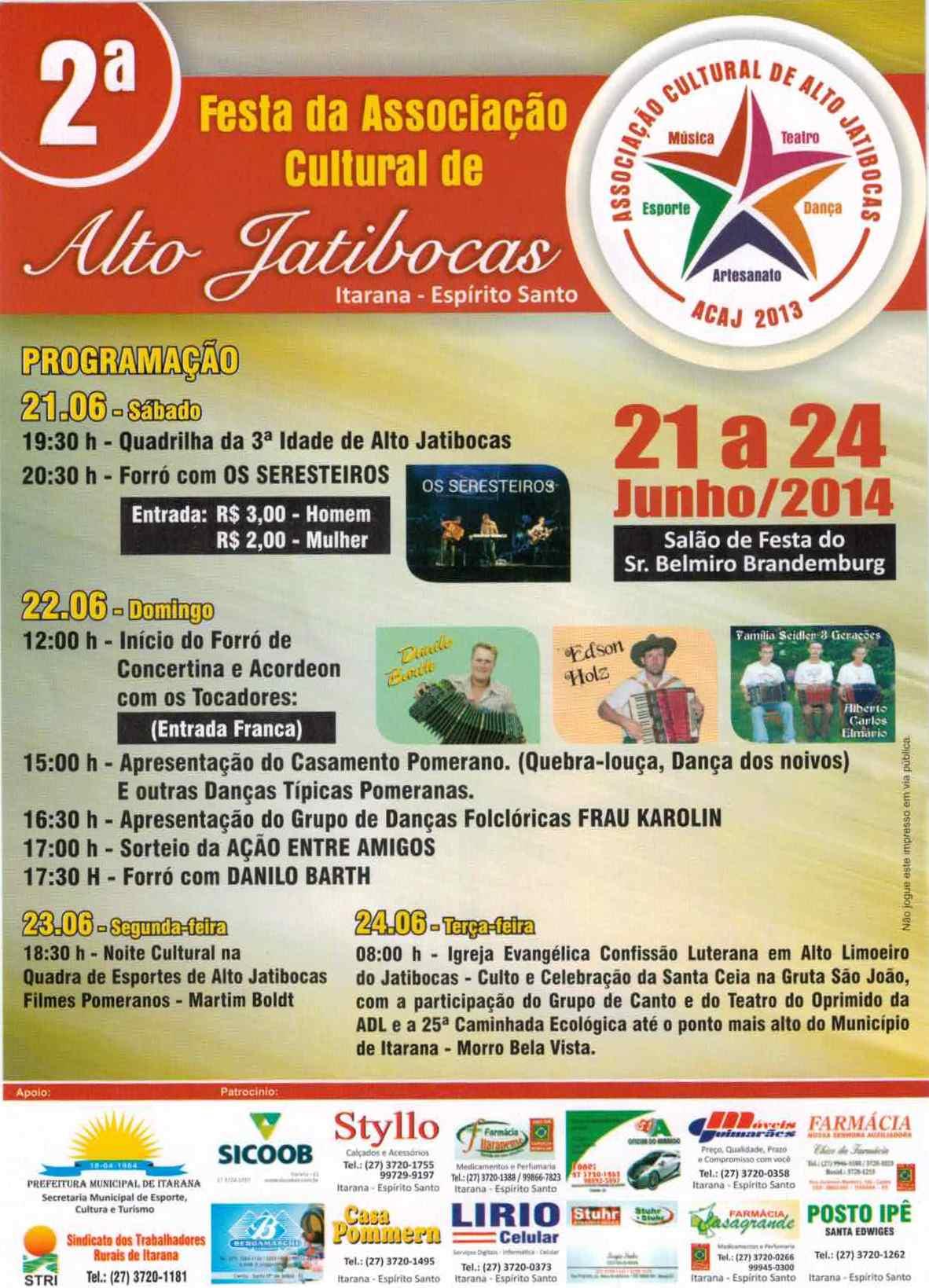 Atrações culturais e forró animam a 2ª Festa da Associação Cultural de Alto Jatibocas